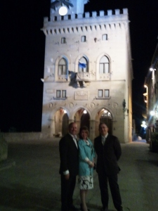 Consuls Warren of Monaco and Biggs Sparkuhl of Chile with Ambassador Rondelli of San Marino