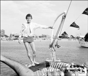 Claude Francoise on a Monaco yacht, 1966