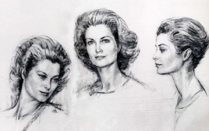 Triple Grace was sketched at Sinatra's home