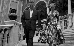 Prince Rainier III of Monaco and Grace Kelly at the Prince's Palace, May 6, 1955