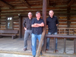 Professor Louis Warren, General Tim White, Consul Jonathan Warren at Camp Monaco Trailhead Lodge, Cody, Wyoming