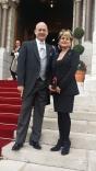With vice-Consul Raffaella de Laurentiis at the Te Deum