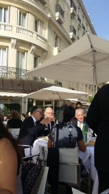 Ending luncheon with Monaco diplomats from around the world